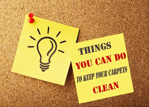 Things you can do to keep your Carpets Clean